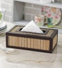 Kraftsmen Handcrafted Brown PU & Chic Tissue Box