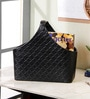 Kraftsmen Premium PU Black Basket with Buckle Handle
