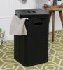 Kraftsmen PU 10 L Black Laundry Basket
