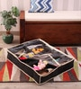 KRIO Designs Black Nylon 26 x 22 x 5 Inch 12-compartment Under Bed and Cupboard Shoe and Toy Storage