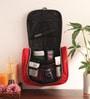 KRIO Designs Nylon Black & Red Travel Organiser