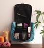 KRIO Designs Nylon Black & Blue Travel Organiser