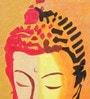 Canvas & Acrylic 11 x 1.5 x 15 Inch Buddha Face in Gold Original Framed Painting by Krish Art