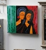 Canvas & Acrylic 12 x 1.5 x 11 Inch Ladies with Art Original Framed Painting by Krish Art