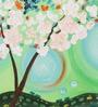 Krish Art Canvas & Acrylic 24 x 1.5 x 12 Inch Green Art Work Original Framed Painting