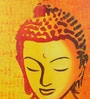 Canvas & Acrylic 24 x 1.5 x 36 Inch Sleeping Buddha Orange Big Original Framed Painting by Krish Art