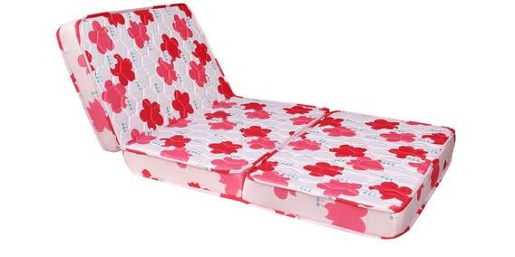 Kurlo Foldable 4 Inches Thickness Single Mattress In Pink Colour By Kurl On