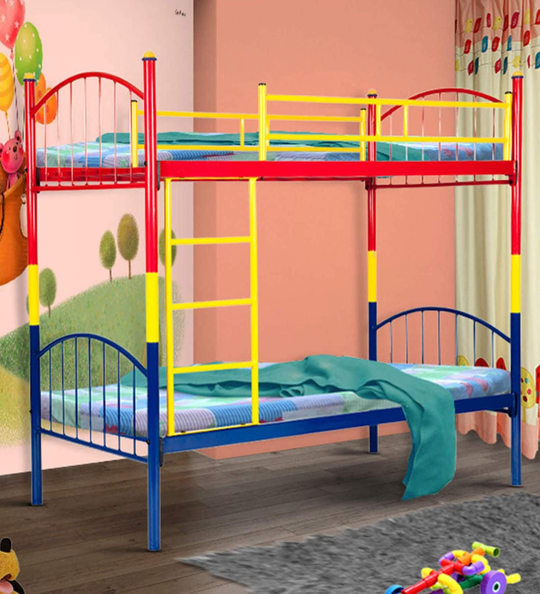Picture of: Buy Metallika Kyoto Kids Bunk Bed By Furniturekraft Online Standard Bunk Beds Bunk Beds Kids Furniture Pepperfry Product