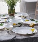 Diva Amber Lily Opal Ware Dinner Set - Set of 64