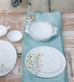 Diva Floral Magic Opal Ware 35-Piece Dinner Set