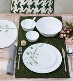 Diva Green Foliage Opal Ware 33-Piece Dinner Set