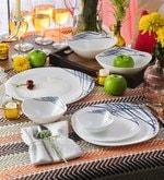 La Opala Diva Quadra Belladonna Opal Ware Dinner Set - Set of 29