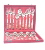 Lacuzini Roma Gold Finish Stainless Steel 18-piece Cutlery Set In A Box
