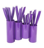 Lacuzini Roxy Purple Stainless Steel 16-piece Cutlery Set with Stand