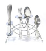 Lacuzini Silver Cozy Stainless Steel 24-piece Cutlery Set with Stand