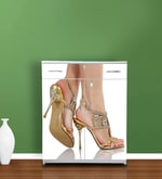 Lady Legs Shoe Rack in White Colour