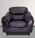 Lakewood One Seater Sofa in Coffee Brown Colour