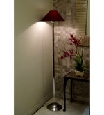 Lamp Post Maroon Poly Cotton Floor Lamp