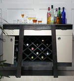 Langley Bar Cabinet in Olive Grey Finish