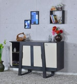 Langley Solid Wood Cabinet in Olive Grey Finish