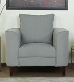 Lara One Seater Sofa in Ash Grey Colour