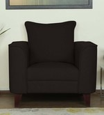 Lara One Seater Sofa in Chestnut Brown Colour