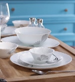 Feather Opalware Dinner Set - Set of 12