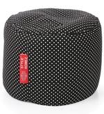 Large Cotton Round Ottoman Cover in Polka Dots Design