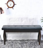 Larissa Bench with Cushion in Capuccino Finish