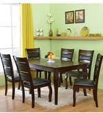 Larissa Six Seater Dining Set in Cappuccino Colour