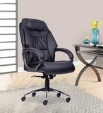 Laura High Back Chair in Black Colour