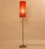 Orange Iron Cylinder Shade Floor Lamp