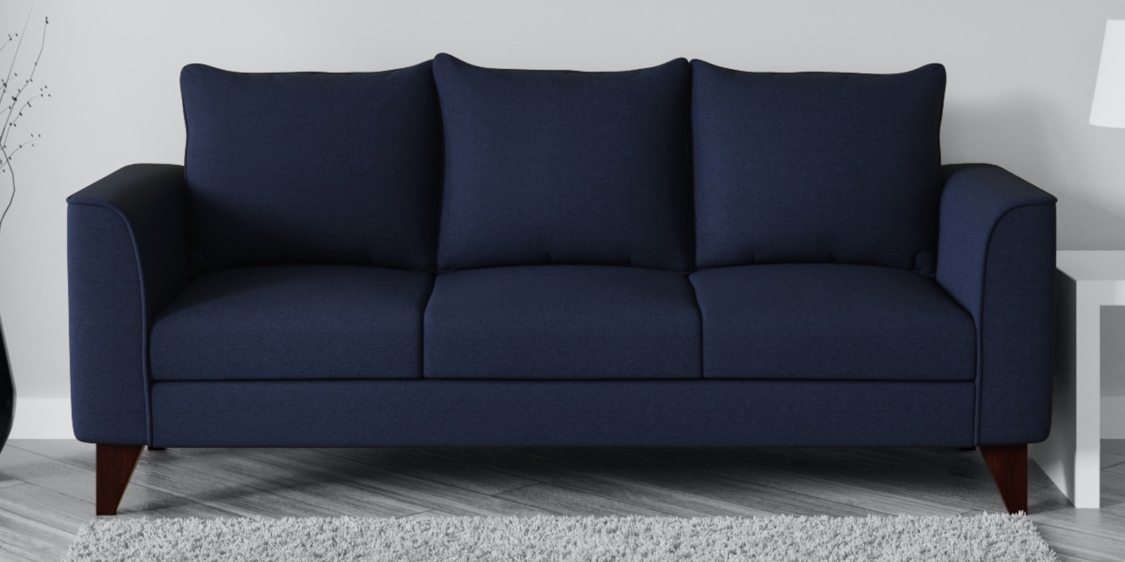 Picture of: Buy Lara 3 Seater Sofa In Navy Blue Colour By Casacraft Online Lawson Sofa Sets Sofa Sets Furniture Pepperfry Product