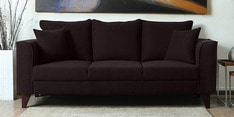 Lara Three Seater Sofa in Chestnut Brown Colour