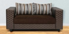 Lara Two Seater Sofa in Brown Colour