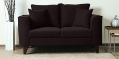 Lara Two Seater Sofa in Chestnut Brown Colour