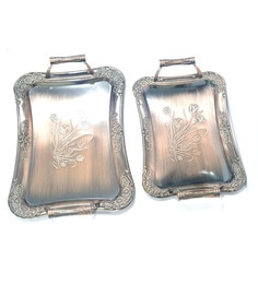 Lacuzini Metal Serving Tray - Set Of 2