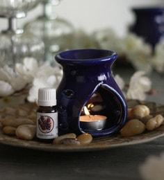 Lavender Mystic Aroma Oil With Ceramic Diffuser Pot & Tea Light Candle