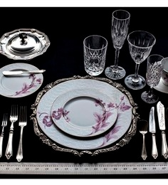Elegance 47 Pcs Dinner Set - Off White & Pink