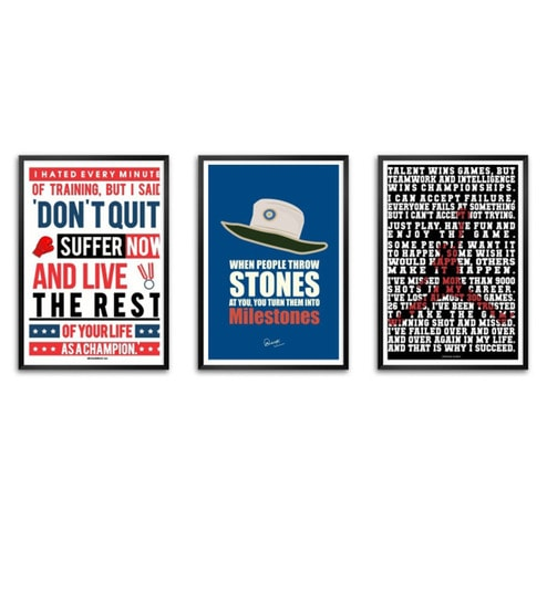 795b7c98d55b0 Lab No.4 - The Quotography Department Polyurethane & Paper 16.7 x 11.9 Inch  Sports Motivational Quotes Framed Poster - Set of 3