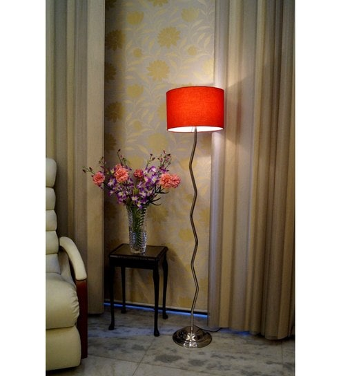 Buy lamp post red poly cotton zig zag floor lamp online red poly cotton zig zag floor lamp by lamp post mozeypictures Gallery