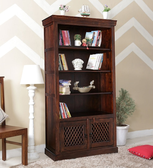 Upto 65% Off On Book Shelves By Pepperfry | Lancefield Book Shelf in Provincial Teak Finish by Amberville @ Rs.23,199