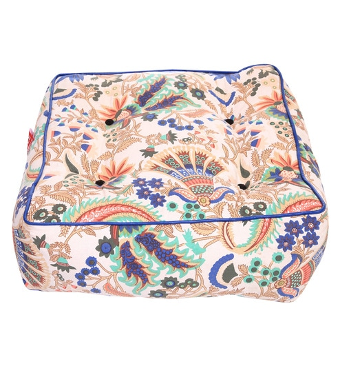 Cotton 21 x 8 inch Floor Cushion by Style HomeZ