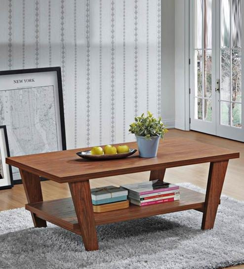 Lavie Coffee Table In Dark Brown Finish By Evok