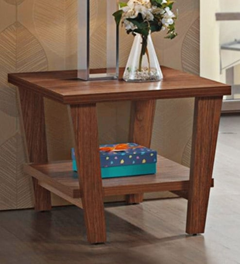 Buy Lavie End Table In Dark Brown Finish By Evok Online Modern End