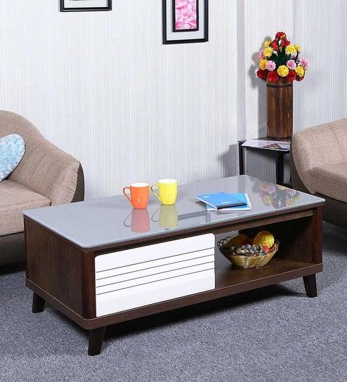 Magnificent Lazada Center Table In White Brown Colour By Parin Inzonedesignstudio Interior Chair Design Inzonedesignstudiocom