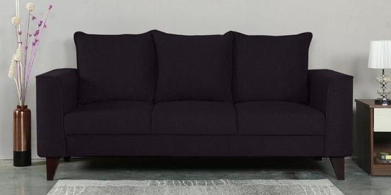 Lara Three Seater Sofa in Chestnut Brown Colour by CasaCraft