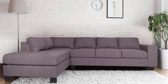 Latvia Rhs Sectional Sofa In Dark Brown Colour By Evok