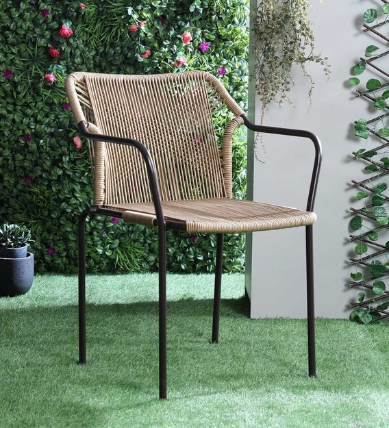 Buy Lanai Outdoor Chair In Brown Colour By Advent International Online Lawn Chairs Chairs Furniture Pepperfry Product