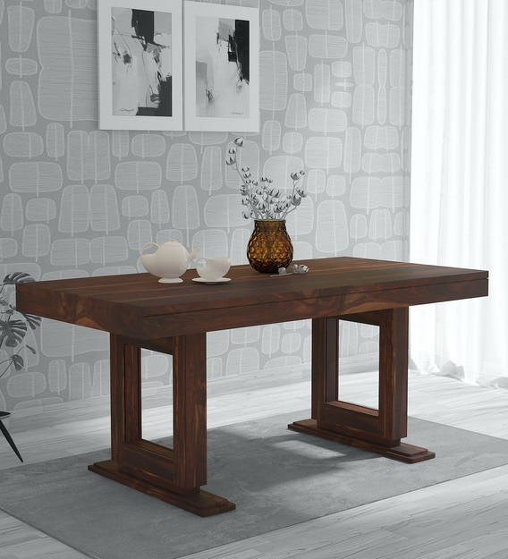 Buy Lawson Solid Wood 6 Seater Dining Table In Provincial Teak Finish Woodsworth By Pepperfry Online Contemporary 6 Seater Dining Tables Dining Furniture Pepperfry Product
